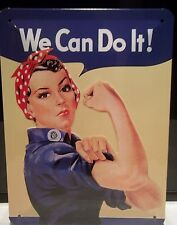 ROSIE RIVETER ,WE CAN DO IT! 20X15cm   RETRO METAL WALL SIGN. FREE UK POSTAGE.