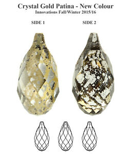 Genuine SWAROVSKI 6010 Briolette Crystals Pendants * Many Sizes & Colors