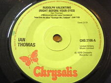 """IAN THOMAS - RULDOLPH VALENTINO (RIGHT BEFORE YOUR EYES) 7"""" VINYL"""