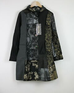 DESIGUAL STYLE 01E2900 Women Golden Embroidery Abstract Coat 20569*