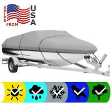 GRAY BOAT COVER FOR TRACKER PRO GUIDE V-16 SC 2010