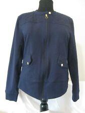 Ralph Lauren L-RL Active womens blue Equestrian pockets  zip up jacket Size L