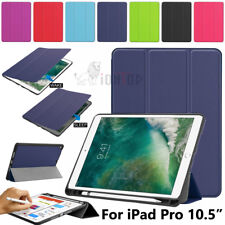 For iPad Pro 10.5 Case with Apple Pencil Holder Slim Auto Wake/Sleep Smart Cover