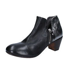 women's shoes MOMA 6,5 (EU 36,5) ankle boots black silver leather BT38-36,5