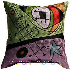 MIRO DECORATIVE ABSTRACT MODERN ART NOUVEAU CONTEMPORARY THROW PILLOW CUSHION