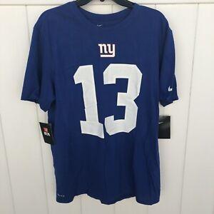 New Odell Beckham Jr. New York Giants NFL Dri-Fit T-Shirt Blue Men's Size XL