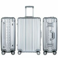 Merax Suitcases Travelhouse Aluminium Frame Luggage Spinner Wheels TSA Approved