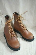 Mens Vintage 70s RED WING USA Leather Steel Toe Work Boots Sz 9-1/2E New in Box
