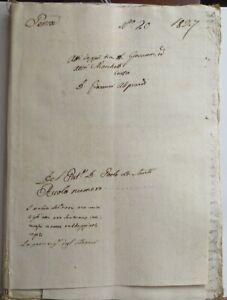 1827 MANOSCRITTO CAUSA ALIPRANDI MARCHETTI PENNE PESCARA TERAMO ABRUZZO