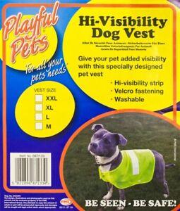 High Viz Pet Dog Coat Reflective Safety Vest in M Sizes