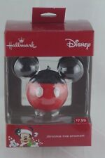 HALLMARK CHRISTMAS TREE ORNAMENT MICKEY MOUSE EARS Disney Minnie Movie Ball NEW