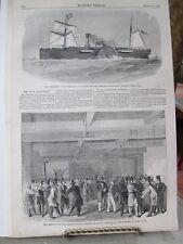 Vintage Print,S.R.SPAULDING,Housing N.E.Delegation,Harpers,1860,Marine