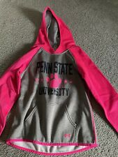 Under Armour Penn State Kids Hoodie Pink Grey Size Medium Youth