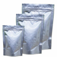 Resealable Stand Up Ziplock Bags Pure Aluminum Mylar Foil Pouches Food Packaging