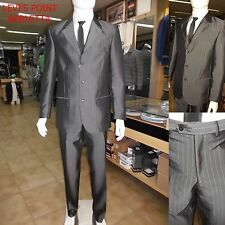 abito da cerimonia uomo sartoriale calssico vestito elegante grigio gessato 48