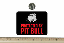 3 x 4 Biker Refrigerator Magnet Protected By Pit Bull Bm707