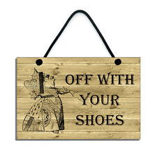 Shoes Off Plaque Remove Your Shoes Porch Sign No Shoes Handmade Hallway Sign 293