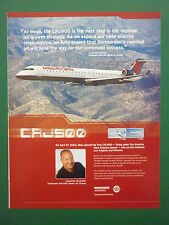 6/2003 PUB AVION BOMBARDIER CRJ900 REGIONAL AIRLINER AMERICA WEST EXPRESS AD