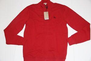 NWT Burberry Brit  men RED Sweater JAcket Medium M Slim Fit  $275