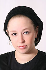 Basket Chennille Tichel Snoods in 3 Colors Black, Gray and Denim Blue