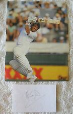IAN BOTHAM SIGNED IN PERSON LARGE 14 x 9 CM INDEX CARD COA + LARGE MAG PRINT