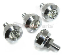 4 Chrome Diamond Bling License Plate Frame Fasteners Bolts for auto/car/truck