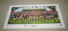 FITZROY LIONS TEAM OF THE CENTURY PRINT KEVIN MURRAY & JAMIE COOPER HAND SIGNED