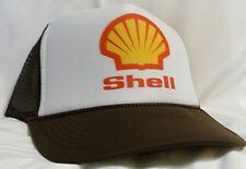 Shell Gasoline Trucker Hat mesh hat snapback hat Brown