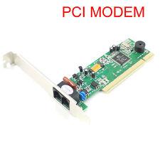 PCI 56K Data V.92 V.90 Dial Up Fax Voice Modem for XP Vista Win7/8 32/64 bit