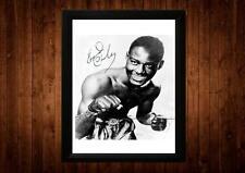 Ezzard Charles Firmado Enmarcado PP A4 impresión Boxeador Boxeo Ideas de Regalos Vintage