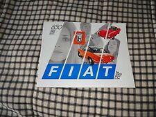 1970 Fiat 850 brochure original new old stock racer spider coupe sedan