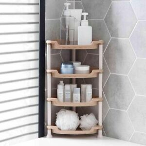 Corner Shower Caddy Bathroom Storage Kitchen Organizer Shower Rack 3/4 Tiers