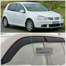 VE20603 Window Visors Guard Vent Wide Deflectors For VW Golf 5 V 5d 2003-2008