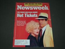 1990 JUNE 25 NEWSWEEK MAGAZINE - MADONNA & WARREN BEATTY COVER - CW 600