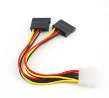 1x Serial ATA SATA 4 Pin IDE Molex To 2x 15 Pin HDD Power Adapter Cable