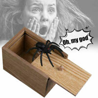 Surprise Spider in Wooden Box Gag Gift Practical Joke Prank Toy Scare Trick