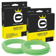 Cortland Precision Clear Ghost Sink Tip Fly Line 15' Tip * New 2020 Stocks *