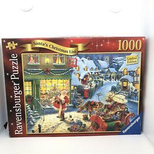 Ravensburger Santa's Christmas List, 1000 Piece Jigsaw ,Complete Limited Edition