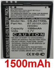 Batería para Acer beTouch E110, Viewsonic V350, BT.0010X.001 HH08C 1500mAh