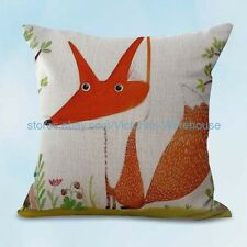 US SELLER, cartoon fox animal cushion cover decorative pillow cases covers