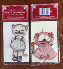 7 Piece Kitty Cat Paper Doll Set Vintage 1994 Kitty plus 6 Costumes