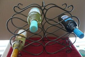 L Princess House Meridian Wine Rack holds 10 Bottles Preowned