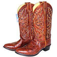 Justin 1560 Brown Chestnut Marbled Deerlite Deerskin J Flex Cowboy Boots 10.5 EE