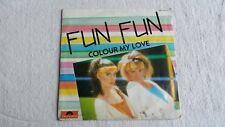 Vinyle 45 tours FUN FUN Colour my love
