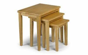 CLEO OAK NEST OF TABLES by Julian Bowen