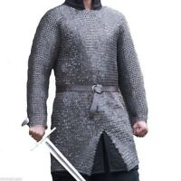 Flat Riveted With Flat Warser Chainmail shirt 9 mm Large Size Full sleeve Huberg