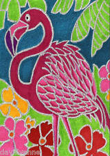 Pink Flamingo by David Venne 9 x 12 inch image on Zweigart Needlepoint Canvas