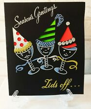 More details for vintage 50s unused anthropomorphic christmas celebration greeting card (eb0084)