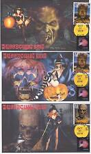 JVC CACHETS - 2014 SET OF 3 HALLOWEEN 'BEAUTY & BEAST' EVENT COVERS FDC HORROR