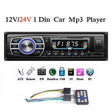 24V/12V 1 Din Car Radio FM In-dash Stereo Bluetooth Head Unit Audio MP3 Player